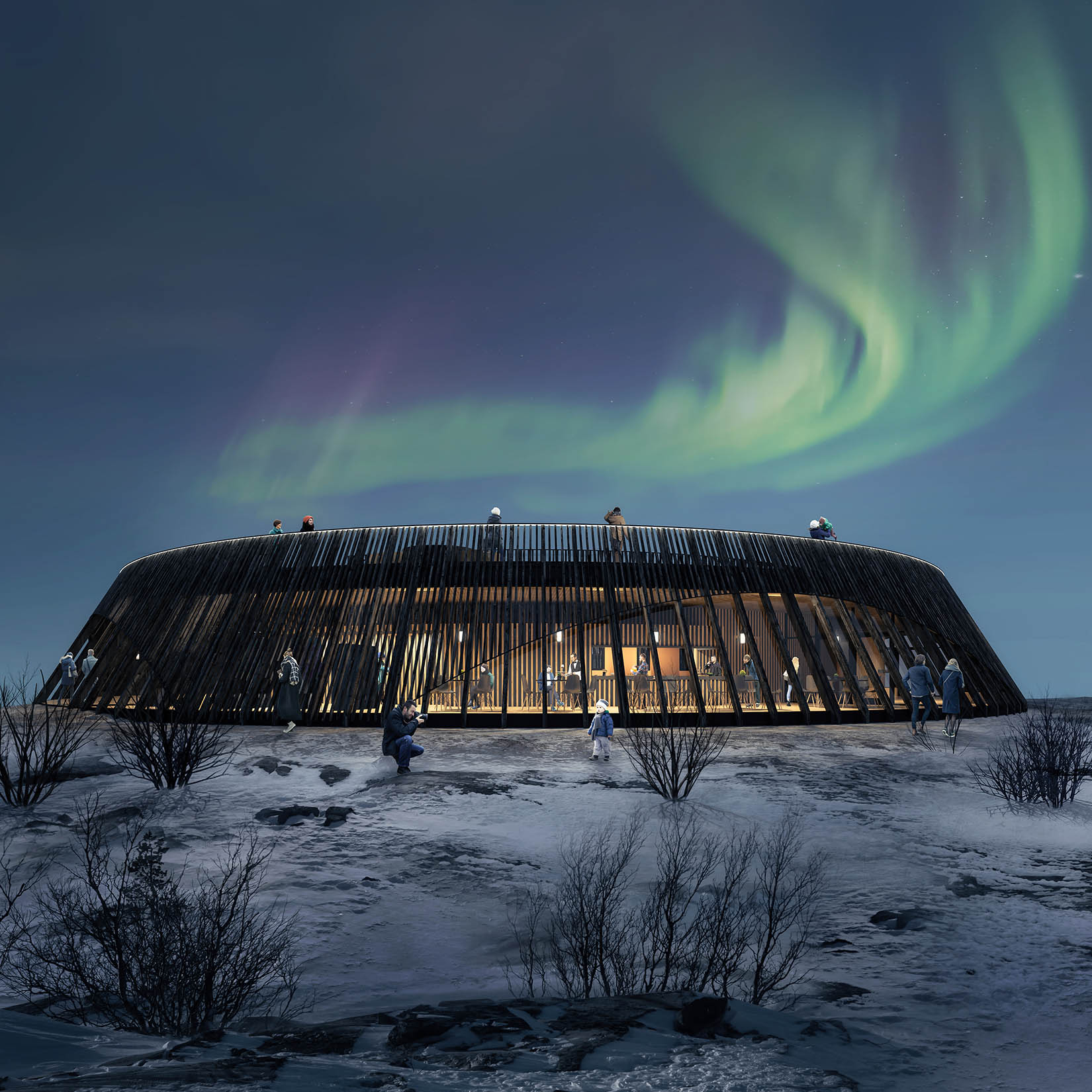 architecture competition visualization Iceland
