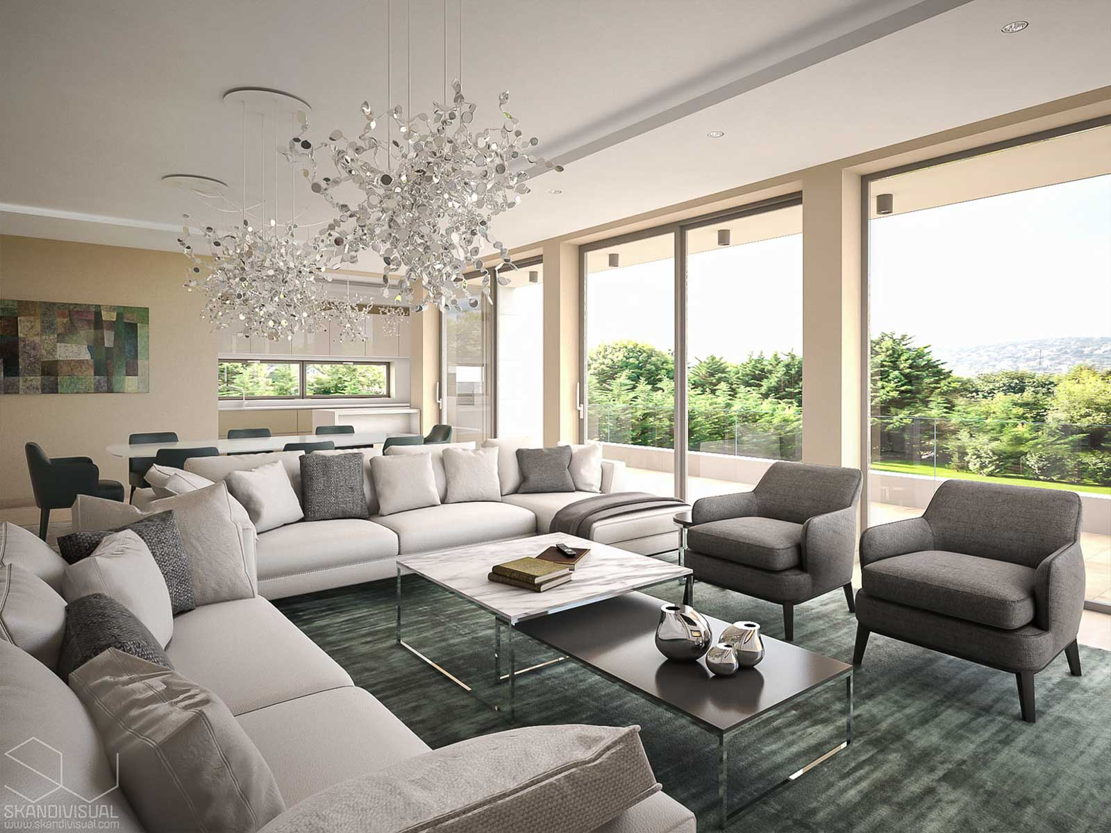 Luxury interior with a view
