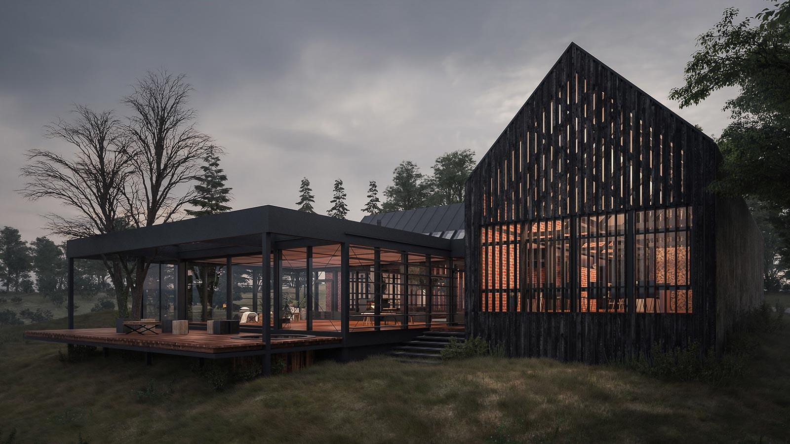 Moderne hus med tradisjoner